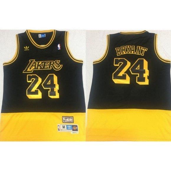 Nba Shirts Los Angeles Lakers Kobe Bryant Black Yellow Jersey Poshmark
